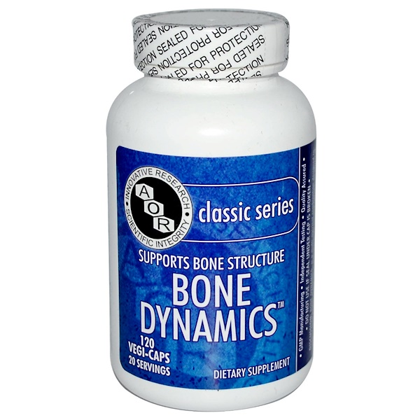 Advanced Orthomolecular Research AOR, Bone Dynamics, 120 Veggie Caps (Discontinued Item)