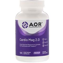 Advanced Orthomolecular Research AOR, Cardio Mag 2.0,120 粒植物膠囊