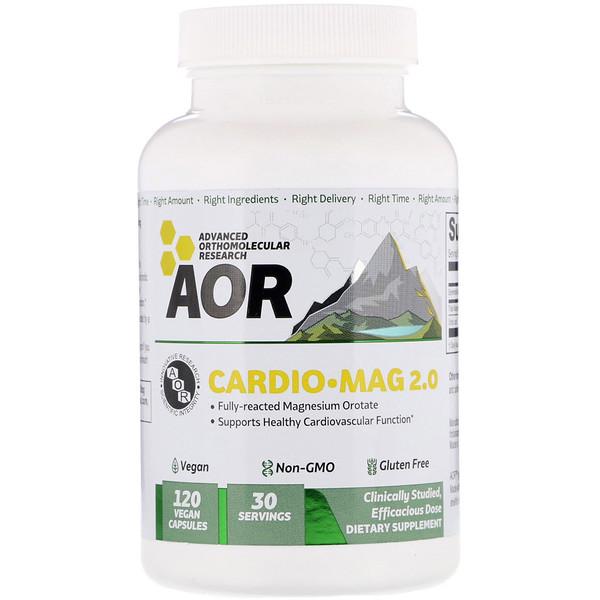 Advanced Orthomolecular Research AOR, クラシックシリーズ, カーディオ-マグ 2.0™, 120 ベジタブルカプセル