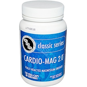 Advanced Orthomolecular Research AOR, Классическая серия, Cardio-Mag 2.0, 120 растительных капсул