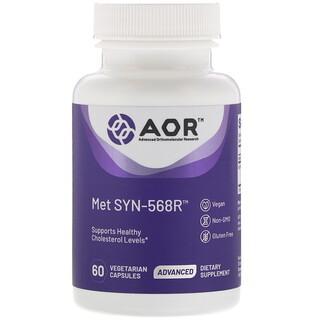 Advanced Orthomolecular Research AOR, Met SYN-568R(メットSYN-568R)、植物性カプセル60粒