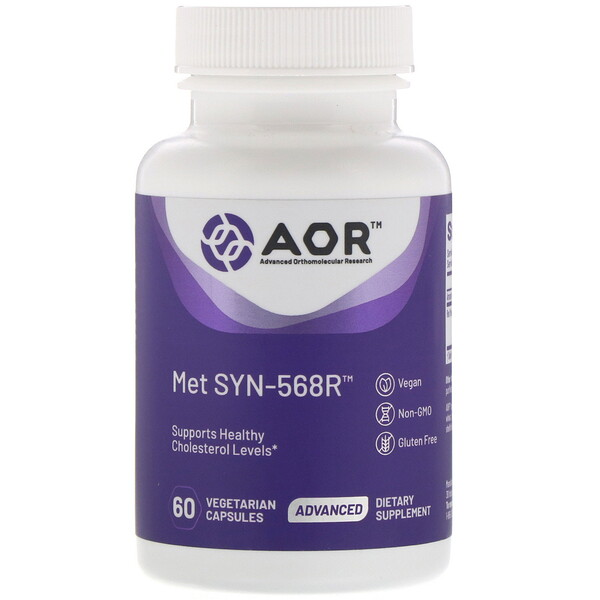 Advanced Orthomolecular Research AOR, MET SYN-568R, 60 Cápsulas Vegetarianas (Discontinued Item)