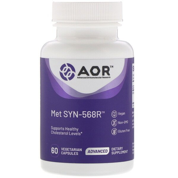 Advanced Orthomolecular Research AOR, MET SYN-568R‏،‎ 60 كبسولة نباتية