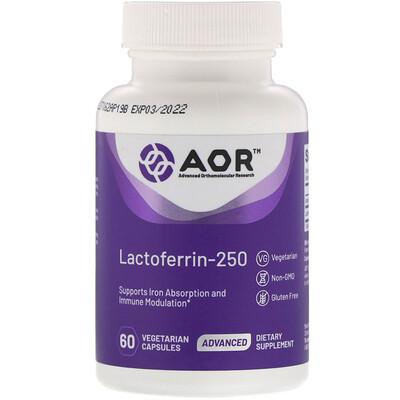 Advanced Orthomolecular Research AOR Лактоферрин-250, 60растительных капсул