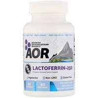 Advanced Orthomolecular Research AOR, Lactoferrin-250, 60 Capsules