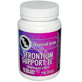 Advanced Orthomolecular Research AOR, Advanced Series, Strontium Support II, 60 Cápsulas Vegetales