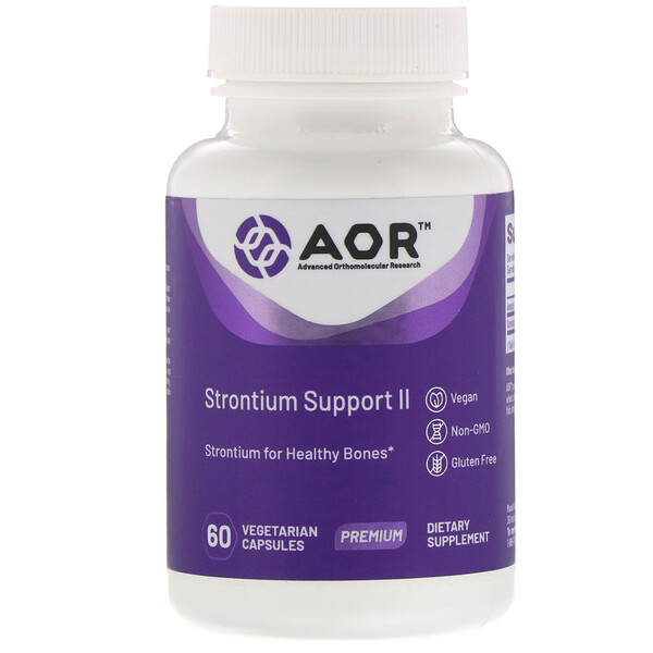 Advanced Orthomolecular Research AOR, Strontium Support II, 60 Vegetarian Capsules (Discontinued Item)