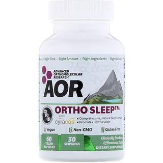 Advanced Orthomolecular Research AOR, Ortho Sleep, 60 Vegan Capsules