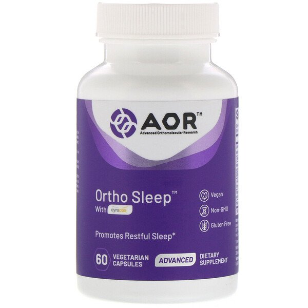 Advanced Orthomolecular Research AOR, Ortho Sleep avec Cyracos, 60 capsules végétariennes