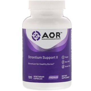 Advanced Orthomolecular Research AOR, Strontium Support II, 120 cápsulas vegetarianas