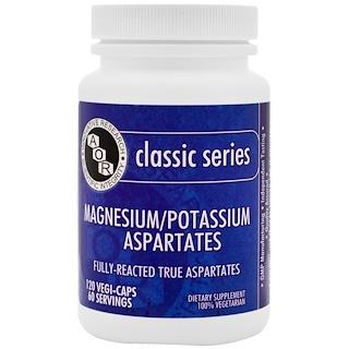Advanced Orthomolecular Research AOR, Magnesium Potassium Aspartates, 120 Veggie Caps