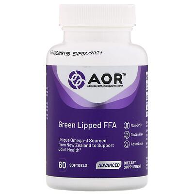 Купить Advanced Orthomolecular Research AOR Свободные жирные кислоты из зеленогубых моллюсков, 60 мягких таблеток