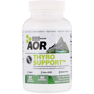 Advanced Orthomolecular Research AOR, Thyro Support, 90 Vegan Capsules