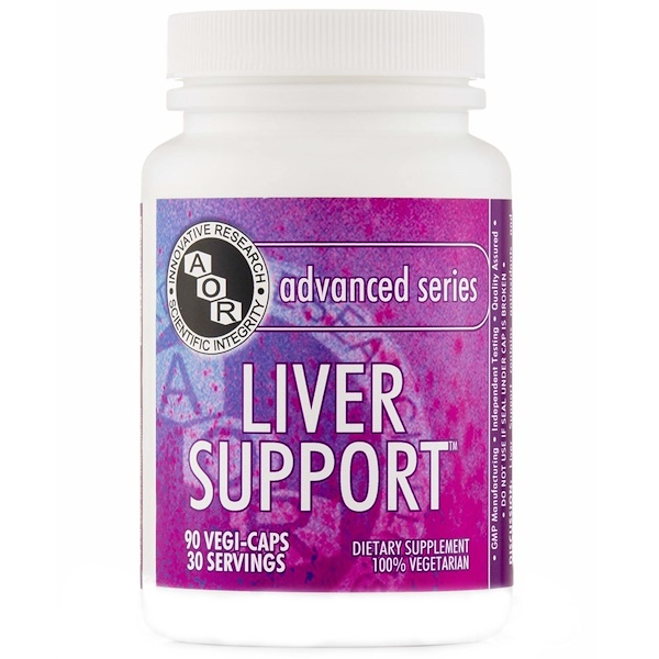 Advanced Orthomolecular Research AOR, Advanced Series, Liver Support, 90 Veggie Caps (Discontinued Item)