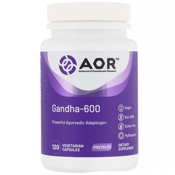 Advanced Orthomolecular Research AOR, Gandha-600, 120 Vegetarian Capsules (Discontinued Item)