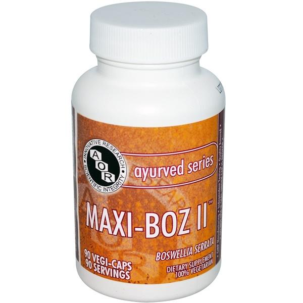 Advanced Orthomolecular Research AOR, Аюрведическая серия, Maxi-Boz II, 90 вегетарианских капсул (Discontinued Item)
