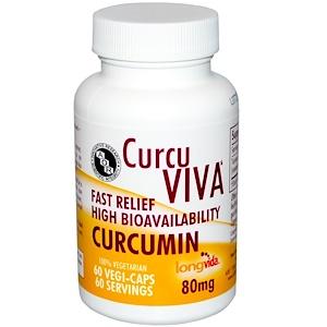 Advanced Orthomolecular Research AOR, CurcuViva, куркумин, 80 мг, 60 растительных капсул купить на iHerb