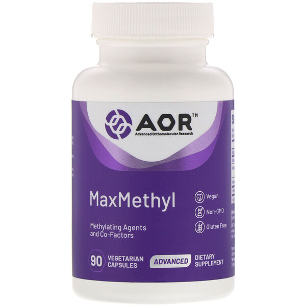 Advanced Orthomolecular Research AOR, MaxMethyl, 90 веганских капсул