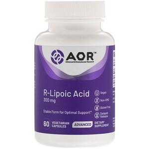 Эдвансд Ортомолекуляр Ресёрч, R-Lipoic Acid, 300 mg, 60 Vegetarian Capsules отзывы покупателей