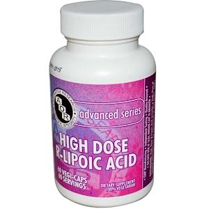 Advanced Orthomolecular Research AOR, R-липоевая кислота в высоких дозировках, 60 растительных капсул купить на iHerb