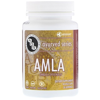Advanced Orthomolecular Research AOR, Ayurved Series, AMLA, Emblica Officinalis, 90 Veggie Caps