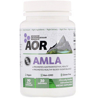 Advanced Orthomolecular Research AOR, AMLA, 90 Vegan Capsules