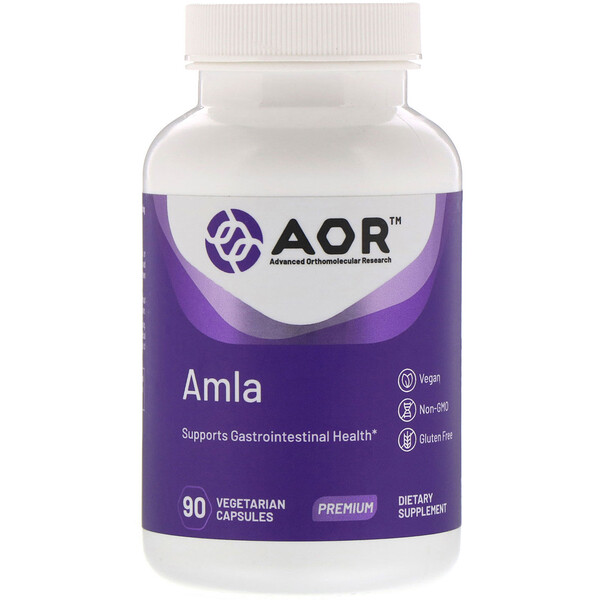 Advanced Orthomolecular Research AOR, AMLA, 90 Vegetarian Capsules