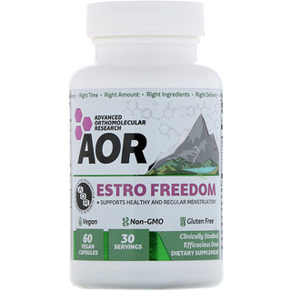 Advanced Orthomolecular Research AOR, Estro Freedom, 60 Vegan Capsules