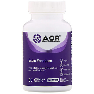Advanced Orthomolecular Research AOR, Estro Freedom, 60вегетарианских капсул