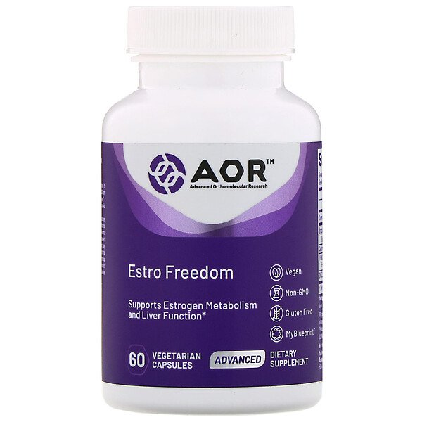 Advanced Orthomolecular Research AOR, Estro Freedom, 60 вегетарианских капсул