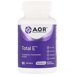 Advanced Orthomolecular Research AOR, Total E 維生素 E 軟膠囊,60 粒裝