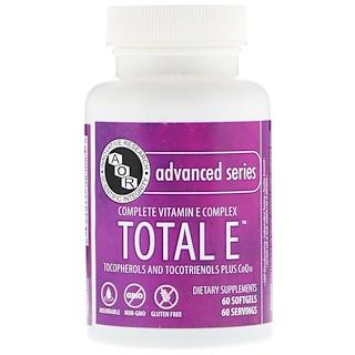 Advanced Orthomolecular Research AOR, Advanced Series, Total E, Complete Vitamin E Complex, 60 Softgels