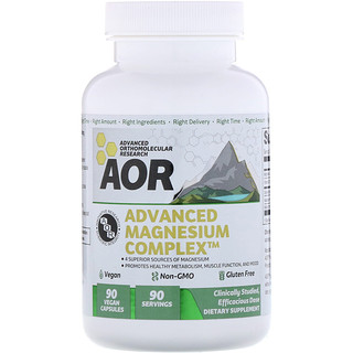 Advanced Orthomolecular Research AOR, Advanced Magnesium Complex, 90 Vegan Capsules