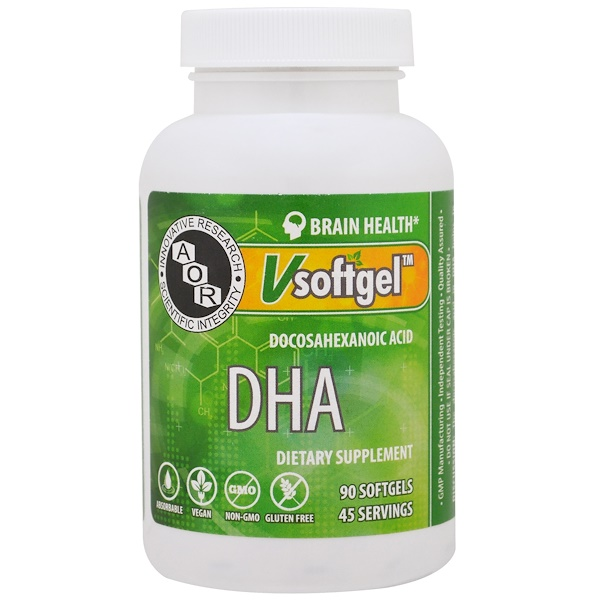 Advanced Orthomolecular Research AOR, DHA, 90 Softgels (Discontinued Item)