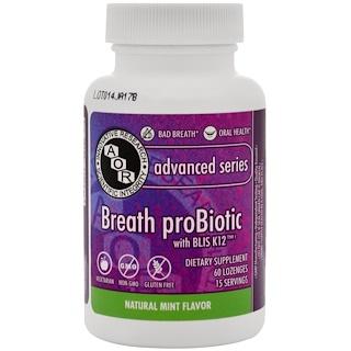 Advanced Orthomolecular Research AOR, Probiótico para la respiración, 60 pastillas