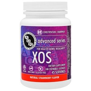 Advanced Orthomolecular Research AOR, XOS, естественный вкус клубники, 180 жевательных таблеток