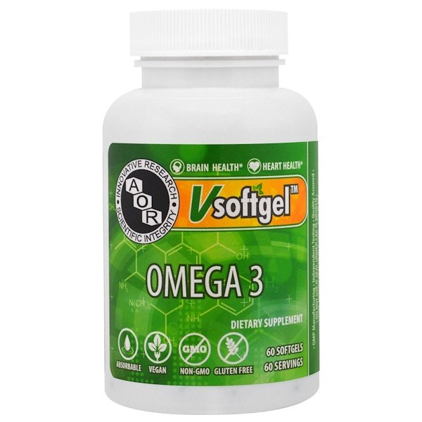 Advanced Orthomolecular Research AOR, Omega 3 , 60 Softgels (Discontinued Item)