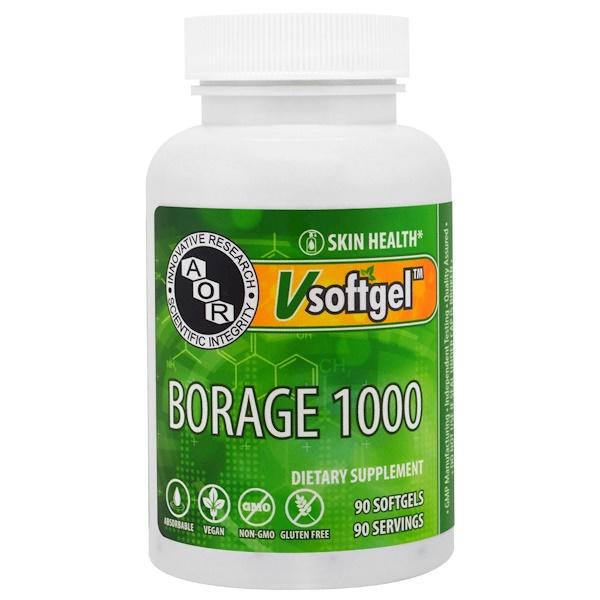 Advanced Orthomolecular Research AOR, Borage 1000 , 90 Softgels (Discontinued Item)