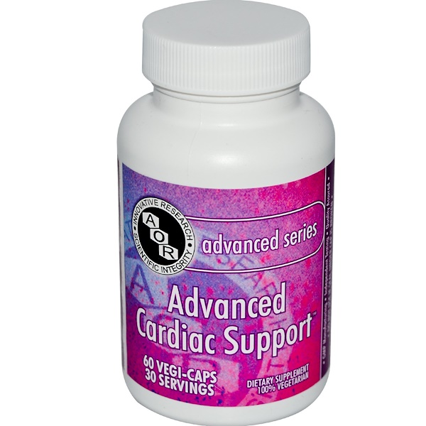 Advanced Orthomolecular Research AOR, Advanced Series, Advanced Cardiac Support, 60 Veggie Caps (Discontinued Item)