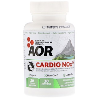 Advanced Orthomolecular Research AOR, Cardio Nox, 30 Vegan Capsules