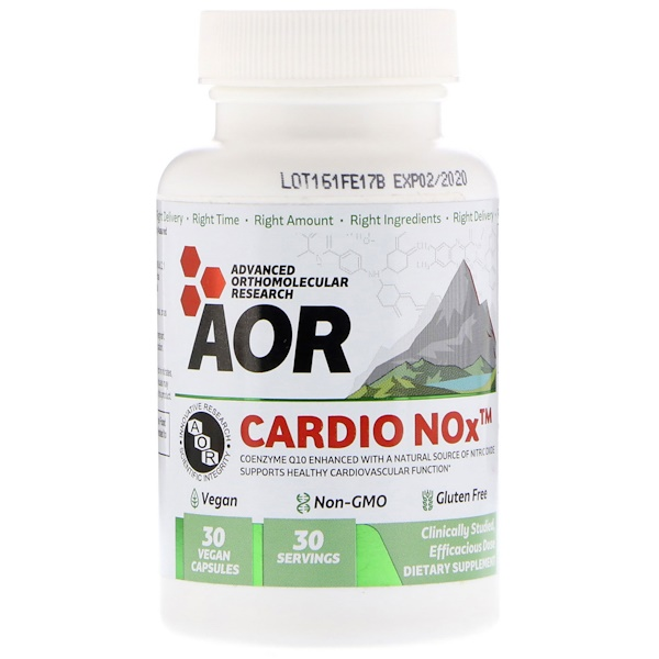 Advanced Orthomolecular Research AOR, Cardionox, 30 Vegan Capsules