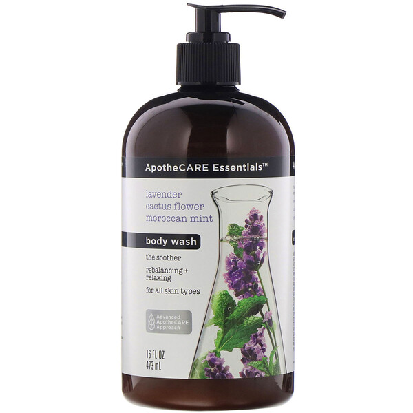 ApotheCARE Essentials, 嫩膚沐浴露,含熏草和仙人掌花以及摩洛哥薄荷,16 液量盎司(473 毫升) (Discontinued Item)