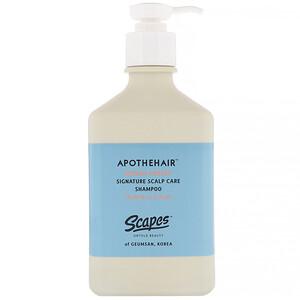 Scapes, Apothehair, Korean Ginseng, Signature Scalp Care Shampoo, 10.48 fl oz (310 ml) отзывы