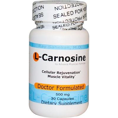L-карнозин, 500 мг, 30 капсул недорого