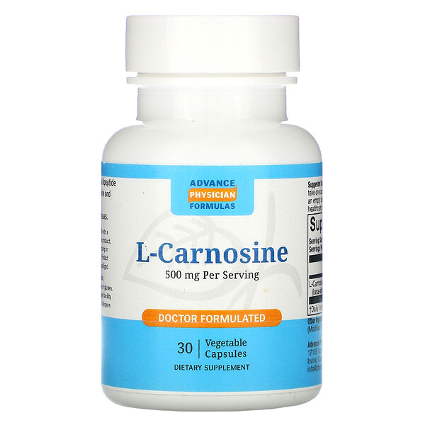 Advance Physician Formulas, L-Carnosina, 500 mg, 30 Cápsulas