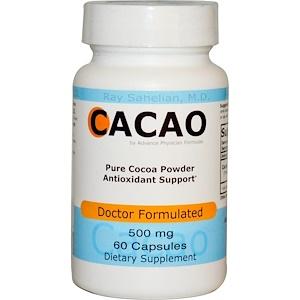 Advance Physician Formulas, Inc., Какао, 500 мг, 60 капсул