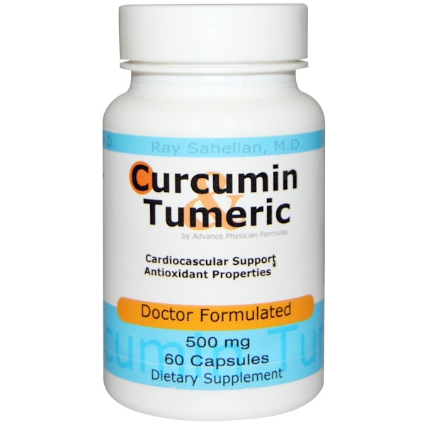 Advance Physician Formulas, Inc., Curcumin Turmeric, 500 mg, 60 Capsules