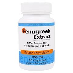 Advance Physician Formulas, Inc., Fenugreek Extract, 350 mg, 60 Capsules