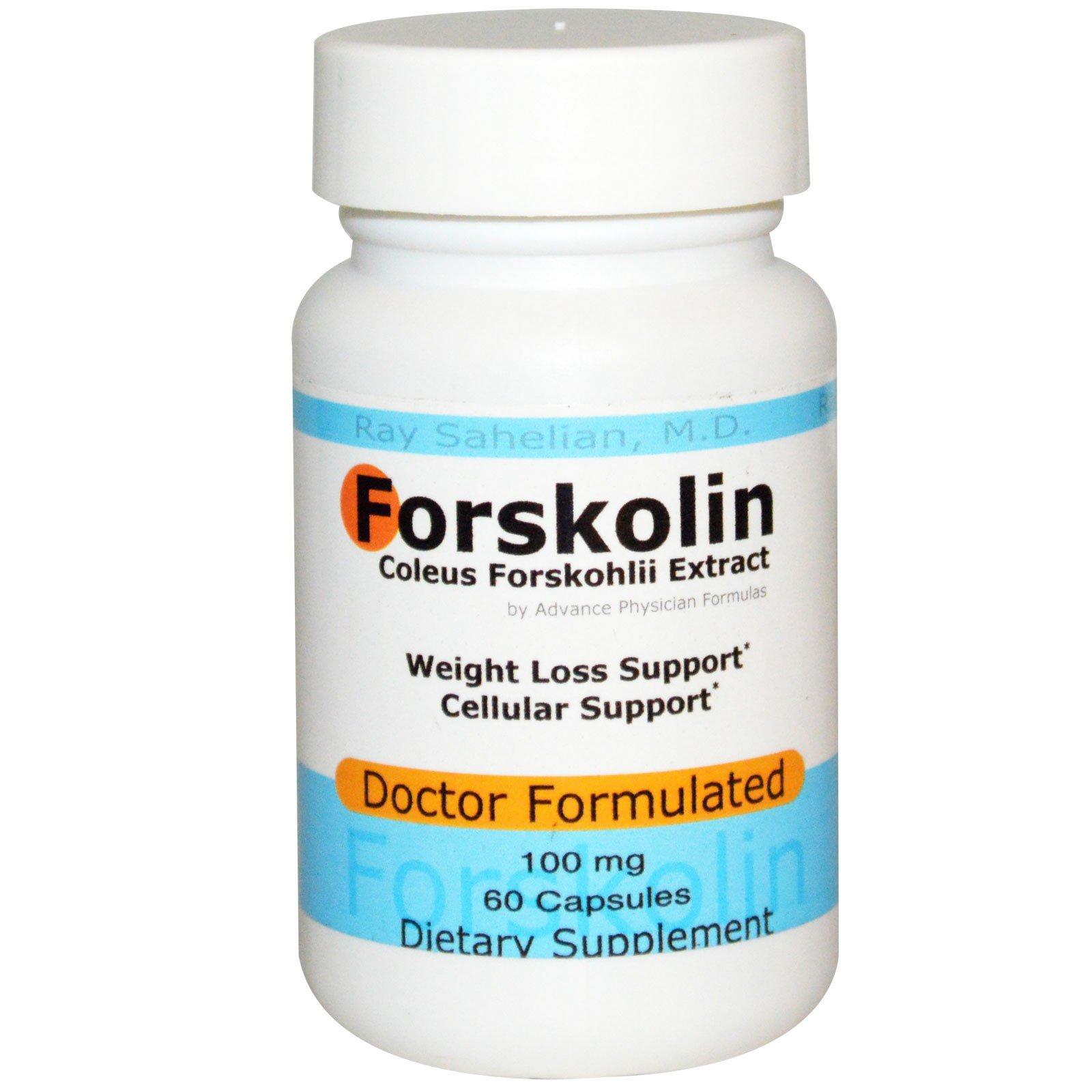 Advance Physician Formulas, Inc., Форсколин - экстракт корня колеус форсколии, 100 мг, 60 капсул