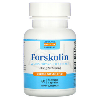 Advance Physician Formulas, 弗斯可林(毛喉鞘蕊花提取物)素食膠囊,100 毫克,60 粒裝